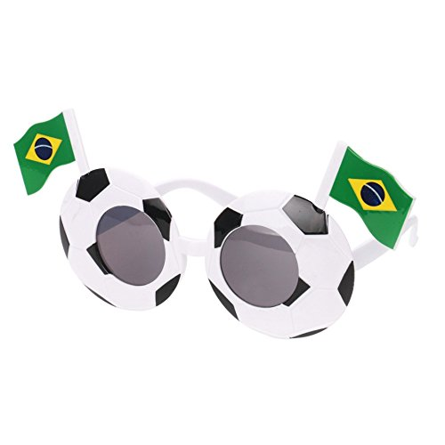 World Cup National Team Soccer Sunglasses Football Photo Funny Costume (Brazil)