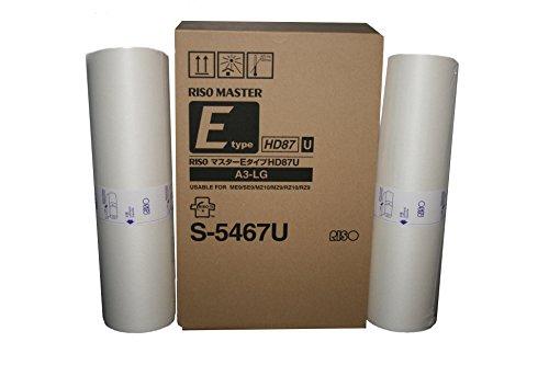 Genuine Riso Brand S-5467 HD Masters (Box of 2) for Use Risograph MZ990, MZ1090, RZ990, and RZ1090 Digital Duplicators