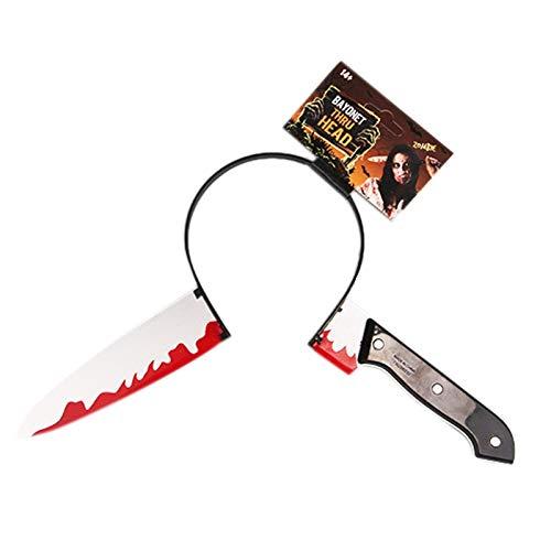 Amazon.com: Halloween – Cuchillo de pelo con cabeza de aro ...