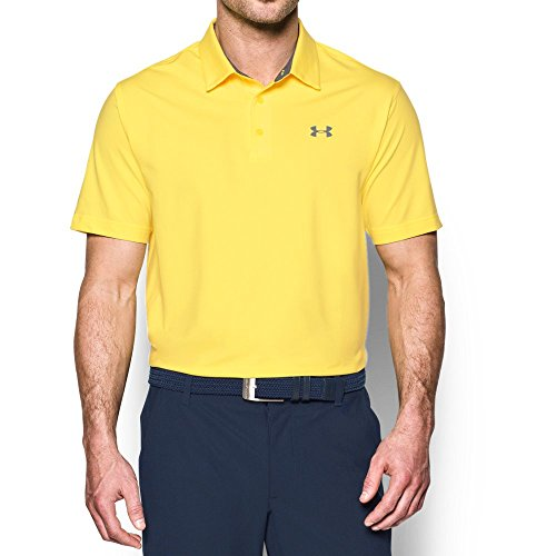 Under Armour Men's Playoff Vented Polo, Tokyo Lemon/Graphite, Large - Playoff Tee