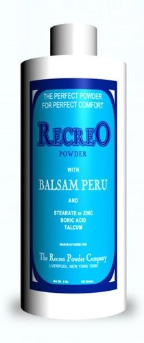 Recreo Powder with Balsam Peru - For Diaper Rash and Other Skin Irritation, 3 Ounces/90 Grams (1 Bottle)