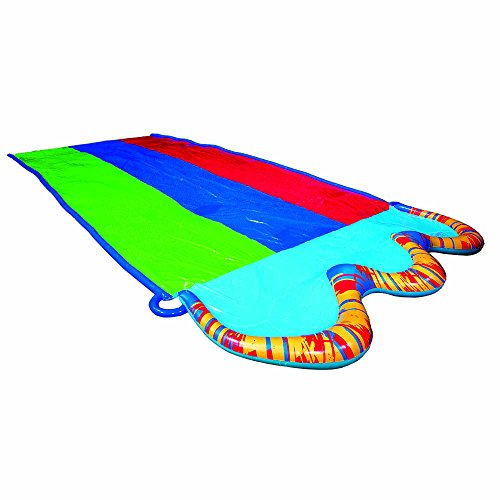 BANZAI Triple Racer Water Slide with 16 Foot Triple Three Ra