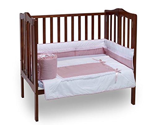 - Baby Doll Bedding Royal Mini Crib/Port-a-Crib Bedding Set, Pink
