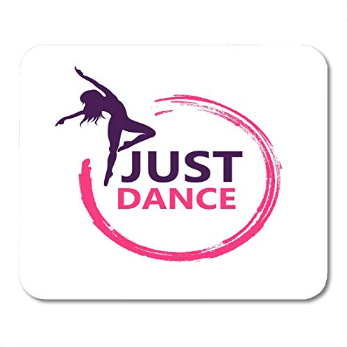 Semtomn Mouse Pad Dancer Dance Symbol Woman Studio Silhouette Abstract Fitness Contemporary Mousepad 9.8