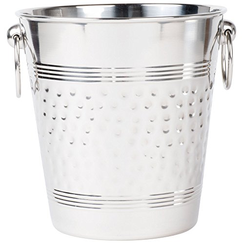 American Metalcraft WB9 Hammered Stainless Steel Wine Bucket ()