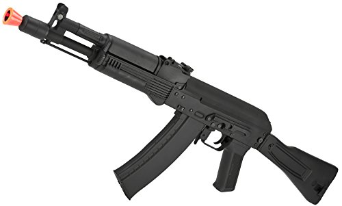 Evike - CYMA Stamped Metal AK-104 w/Folding Synthetic Stock Airsoft AEG Rifle