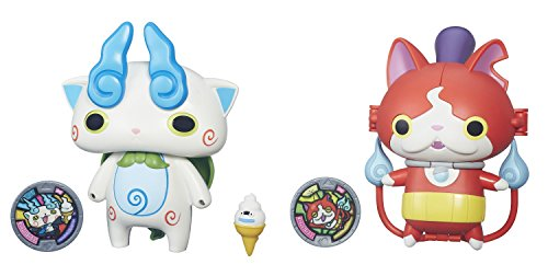 Yo-kai Watch Converting Characters Wave 1, 2-Pack (Jibanyan-Baddinyan / Komasan-Businessman)