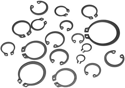 Ochoos 225pcs Internal /& External Snap Retaining Ring Circlip Washers Assortment Set 18 Sizes with Box