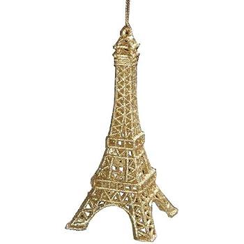 French Eiffel Tower Acrylic Christmas Ornament