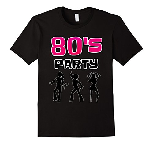Mens Costumes 80s Party (Mens 80S PARTY COSTUMES STYLE T-SHIRT MUSIC DISCO RETRO PARTY XL Black)