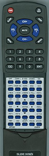 Replacement Remote Control for VIDIKRON 997518000, VISION 30
