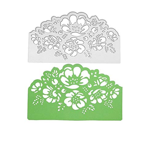 Cloudro Flowers Cutting Dies,Lace Flower Clearance Metal Cut Dies Stencil Template Mould for DIY Scrapbook Embossing Album Paper Card Craft (B)