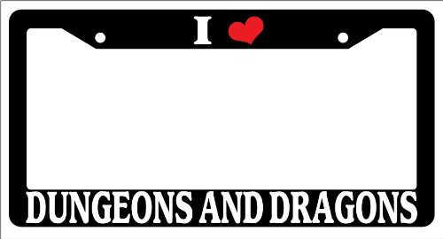 Galleon - Black License Plate Frame I Heart Dungeons And Dragons ...