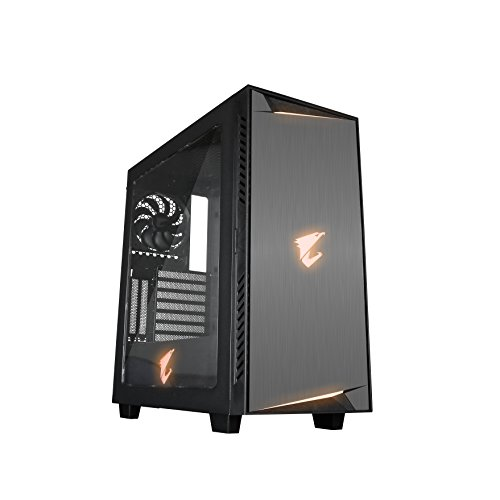 Gigabyte GB-AC300W Transparent Full Side Panel Window Mid Tower Computer Chassis Components (Computer Vertical Tower)
