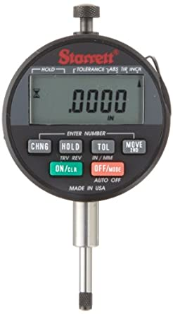 "Starrett Wisdom Plus LCD Electronic Indicator, Inch and Metric, 0.375"" Stem Diameter"