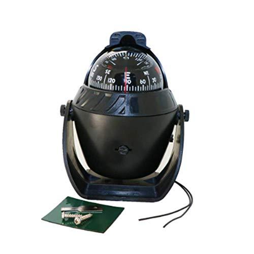 YUNJIE Coche Compass,Brújula De Bola Compacta Mini Auto Cinta Adhesiva Ajuste De Declinación Magnética Vehículos...