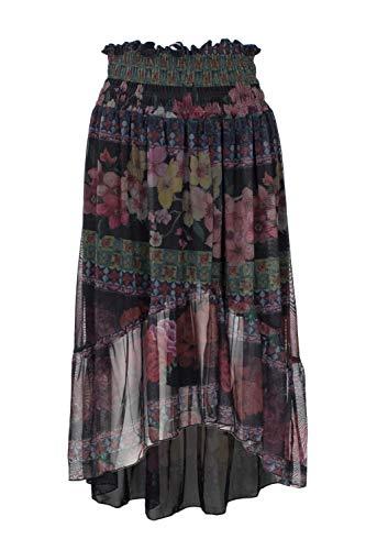 Jupe Polyester Desigual 18wwfk10black Femme Noir PqW0pB