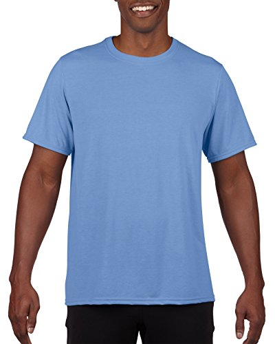 Gildan Men's Performance 100% Polyester T-Shirt, Carolina Blue, X-Large - Carolina Blue Jersey T-shirt