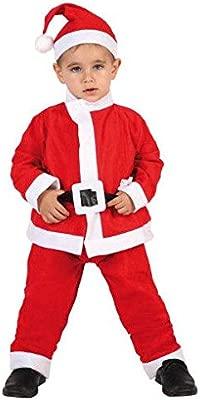 Atosa-69213 Atosa-69213-Disfraz Papá Noel niño infantil-talla 10 a 12 años rojo-Navidad, color (69213)