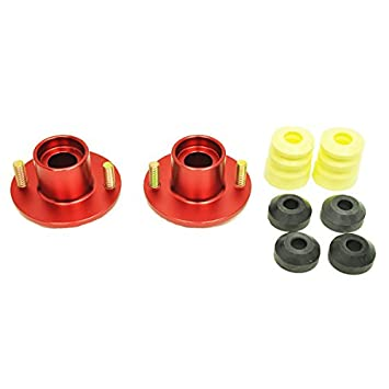 Set of 2 Rev9Power Rev9/_FC-AK-115-RED; Honda//Acura Extended Aluminum Suspension Top Mount Red