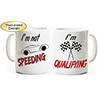 fan products of Racing Gift - I'm not speeding I'm qualifying - Coffee Mug for Speeder Race Enthusiast Racer - Cars Speedster Indy Coffee Cup
