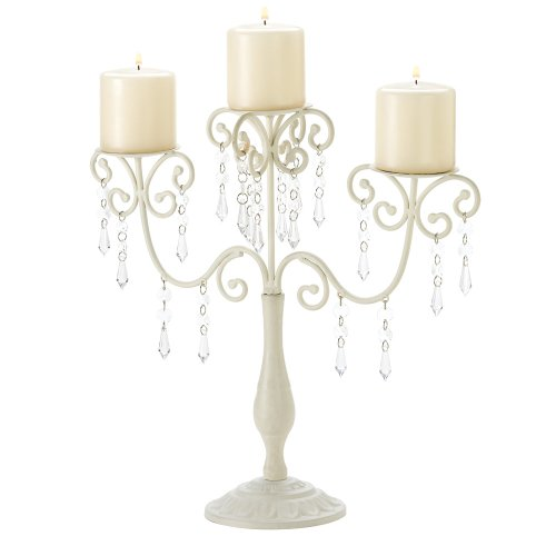 Gifts & Decor Ivory Candelabra Wedding Gift Centerpiece Candle Holder
