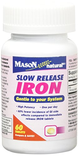 Mason Naturals Iron 50 mg Slow Release-60 Tablets (Release 50 Tablets)