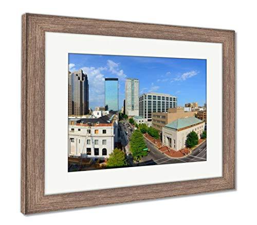 (Ashley Framed Prints Downtown Birmingham Alabama, Wall Art Home Decoration, Color, 26x30 (Frame Size), Rustic Barn Wood Frame, AG32675135)