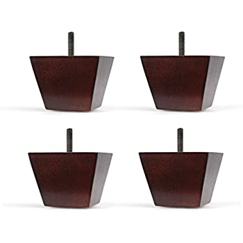 bun feet replacement furniture legs a set of 4 kitchen dining. Black Bedroom Furniture Sets. Home Design Ideas