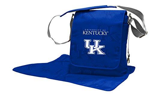Wild Sports NCAA College Kentucky Wildcats Messenger Diaper Bag, 13.25 x 12.25 x 5.75-Inch, Blue by Wild Sports