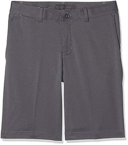 - Nike Boys Flat Front Short (LG (14-16 Big Kids), Dark Gray/Dark Gray)