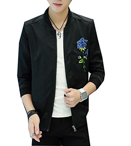 Embroidered Letterman Jacket - 4