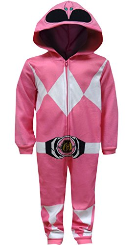 Power Ranger Girls' Big Pink Critter Pajama, 10