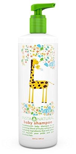 Shampooing pour bébés InstaNatural - avec huile de lavande, huile de tournesol & extraits de fruits - Soothing Formula for Kids - doux & hydraté cheveux - 20 OZ