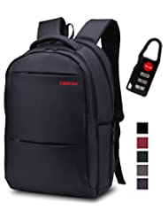 Slim Business Laptop Backpack: Unisex, 2015 New Arrival Advanced Design with Lots of Pockets, Professional Quality, Waterproof, Stylish and Lightweight,(Black)