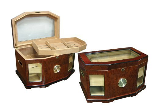 Prestige Import Group 300 Ct. High Gloss Lacquer Humidor w/ Beveled Glass by Prestige Import ()