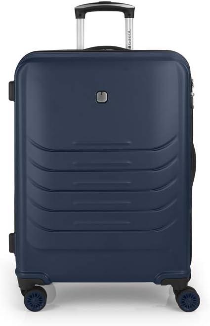 Gabol - Vasili | Maleta de Viaje Mediana Rigida de 47 x 67 x 27 cm con Capacidad para 65 L de Color Azul