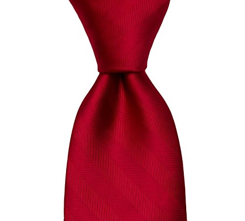Red Solid Silk Woven Tie | The Hillview Tie | TieThis