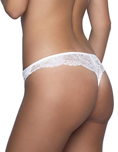 Eden mujer After 5889 Panty blanca encaje de para 35 Tanga 12 dqxrInq8