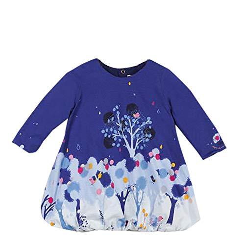 Catimini Mädchen Robe Boule Kleid Baby Pour Blau Ox6T0Ow
