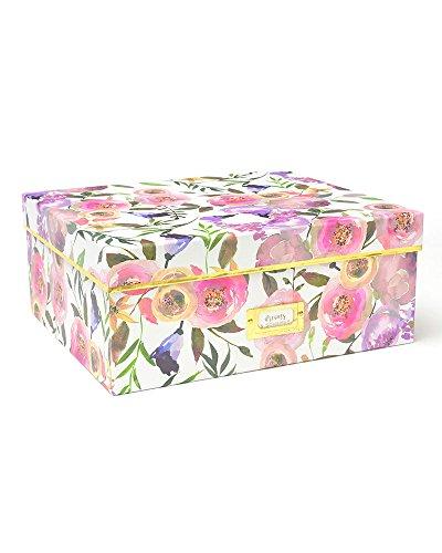 Large Storage Box - Pretty Blooms & Gold Foil