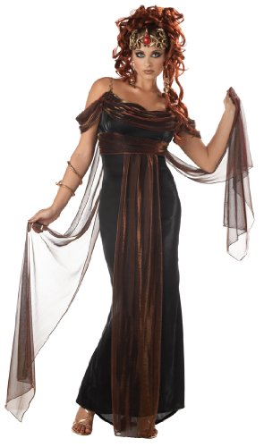 California Costumes Women's Medusa, The Mythical Siren, Black/Burgundy, Small Costume