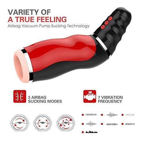 USEXMTY S-Tshirt Male Masturbator New Oral Sucks Male Masturbator Deep Throat Clip Suction Sex Machine Induced Vibration Sex Moan Intimate Goods Seeex-Toys for Men,as Picture Cleverly by USEXMTY S-Tshirt (Image #9)