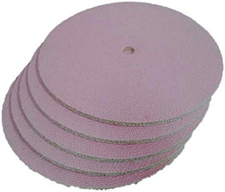 有明鍍研材工業 サイザルバフ ピンク 特殊加工 直径350mm x 穴径25.4mm バフ研磨 グラインダー用
