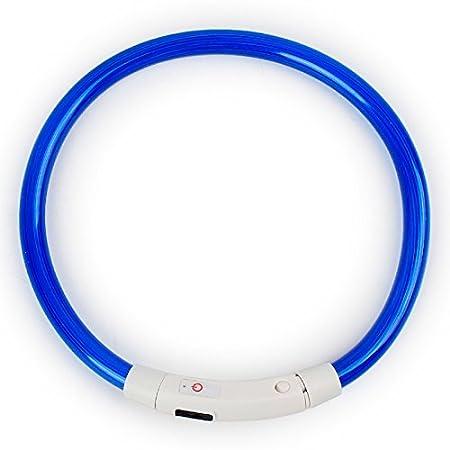 para perros peque/ños // medianos // grandes impermeable Iluminar el cuello seguridad nocturna Collares de mascotas brillantes USB recargable Collar de perro LED