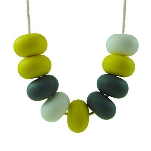 Silicone teething necklace jewelry soothing