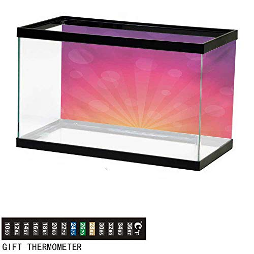 - wwwhsl Aquarium Background,Orange and Pink,Ombre Inspired Background Circles and Banners,Purple Pink Orange Fish Tank Backdrop 48