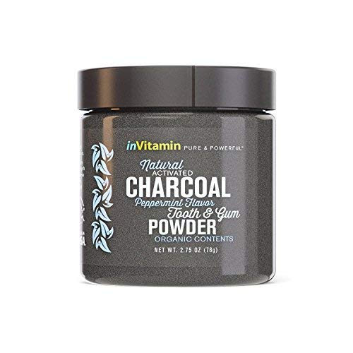 Natural Teeth Whitening Activated Charcoal Powder (Peppermint)