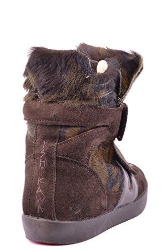 Ishikawa Hi Top Sneakers Donna MCBI156021O Camoscio Marrone
