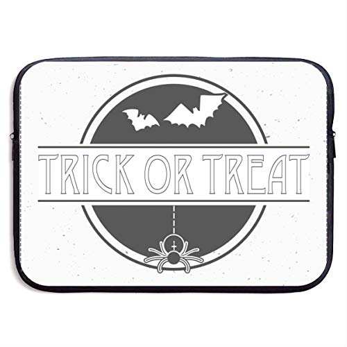Bat Fly Trick Or Treat Halloween Trick R Treat,Halloween Witch Graffiti 3D Print Laptop Sleeves 13 Inch